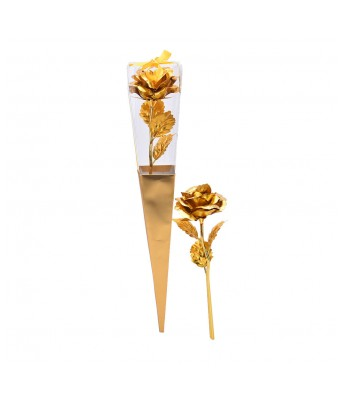 24K Dipped Gold Foil Rose Wedding Birthday Valentine's Day Lovers Gift(Golden)