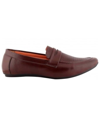 Smoky Mens Maroon Color Loafer Shoes for Mens & Boys