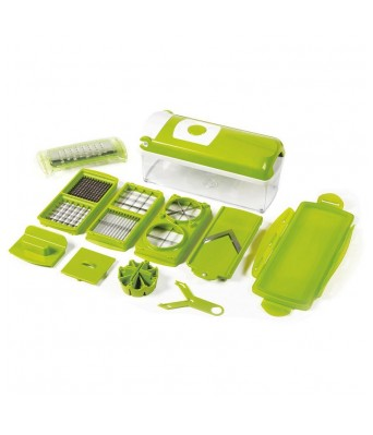 Colonial Nicer Dicer Plus Multi Chopper Vegetable Cutter Fruit Slicer - With Product holder Guide CD