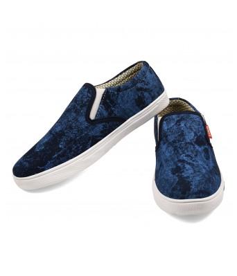 Scootmart Blue Printed Shoes