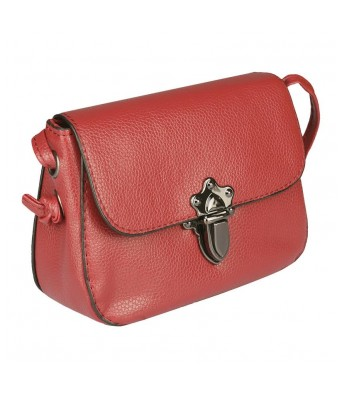 Caterfly  Womens Stylish PU Leather Red Color Hand Held Clutch Bag Purse