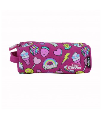 Smily Pencil Pouch (Pink)
