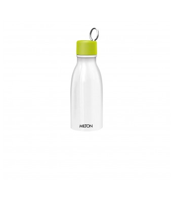 Milton CHAI PANI Thermosteel Vaccum Insulated Hot & Cold Water Bottle, TOP Bottle 500 ml, Bottom Bottle 300 ml, Neon Green