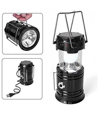 APM LED Solar Emergency Light Lantern + USB Mobile Charging + Torch point, 2 Power Source Solar And Lithium Battery, Travel Camping Lantern (Colour May Vary)