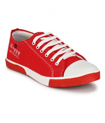 Boggy Confort Red Synthetic Sneakers casual Shoes for Mens & Boys