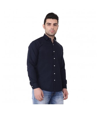 Banana Republic Men Blue Plain/Solid Shirt