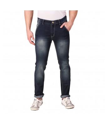 Rock Hudson Mens Regular Fit Denim Strechable Cross Pocket Black Spray Faded  Light Faded Black Jeans