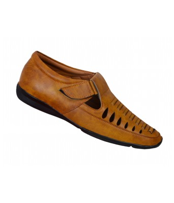 Shoes Kingdom Tan Color Stylish Casual Sandals for Men & Boys