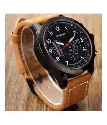 Curren Brown Analog Watch