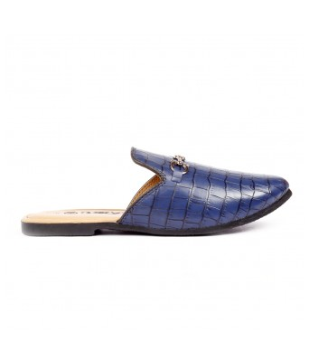 Bxxy Men's Stylish Slip-on, Crocodile style Mules and Loafers