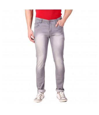 Rock Hudson Mens Regular Fit Denim Strechable Round Pocket Heavy Faded Grey Jeans
