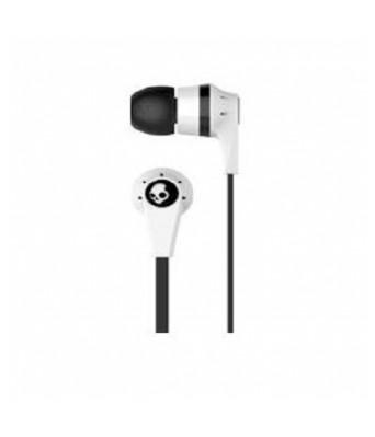 Skullcandy S2IKDY-003-Ink'd 2.0 Earbud Headphones with Mic (White & Black)