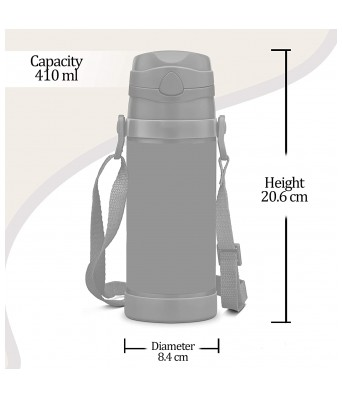 Milton Campy 650 Shiva Stainless Steel Insulated Water Bottle, 410 ml, Blue
