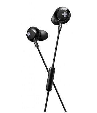 Philips Bass+ SHE4305BK/00  Headphones with Mic (Black)