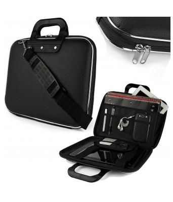 Fobhiya International Unisex Hard Shell Briefcase Carrying Laptop Bag With Shoulder Strap For 15.6 In Laptops - Black