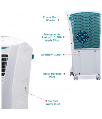 Symphony Hicool i 31 Litre Air Cooler (White) - with Remote Control and i-Pure Technology