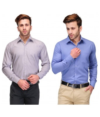 Koolpals Mens formal Cotton Blend Shirts (Pack of 2 Shirts)