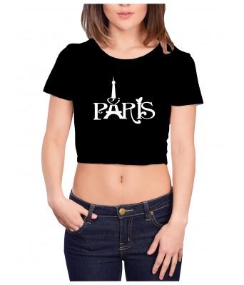 TrendzWinG Black PARIS Crop Top