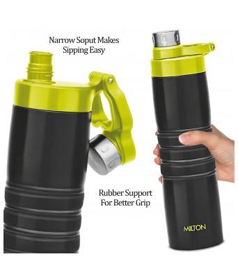 Milton Amigo 800 Thermosteel Water Bottle, 660 ml, Black