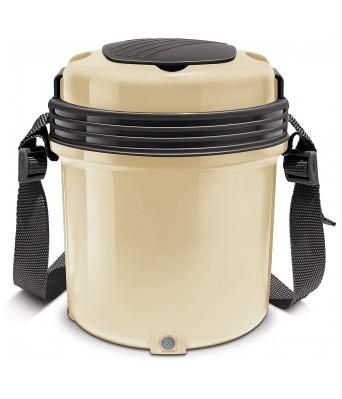 Milton Electron Stainless Steel Tiffin Box Set, 360ml/158mm, Set of 3, Cream