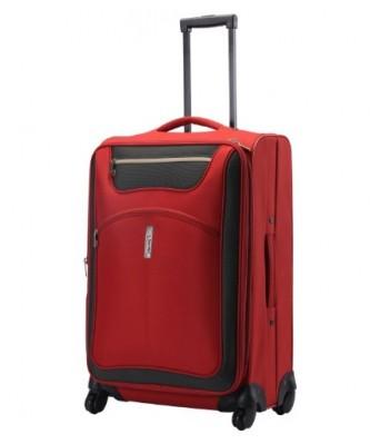 Alfa Entizer Teflon 64.5 cms Orange Hardsided Suitcase (STENTI66ONG)