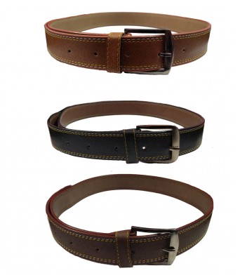 Ansh Fashion Wear Mens Combo of 3 Non Leather Stylist belt