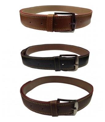 Ansh Fashion Wear Mens Combo of 3 Non Leather Stylist belt