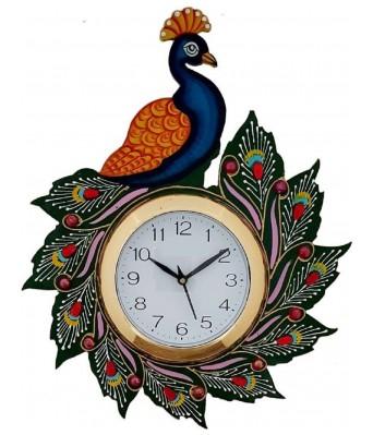 V Brown Black color  Desginer  Wooden Analog Wall Clock