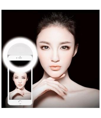 SunDel LED Rechargable Selfie Ring Light Flash for Musically & Smule on Mobile  Tablet  Laptop