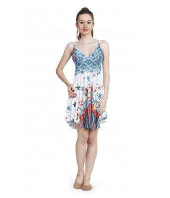Ansh Fashion Wear Printed Satin Baby Doll Night Dress