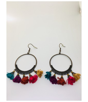 The Square One by Aditi Gautam Non Precious Metal Fashion Jewellery Bohemian Stylish Multi-Color Fancy Party Wear Earrings for Women & Girls