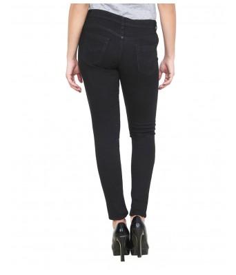 Ansh Fashion Black Denim & Dark Blue Color Pattern Womens Denim Jeans Regular Fit Mid Waist Pack of 2 Jeans