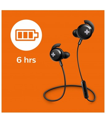 Philips SHB4305BK/00 Wireless Bluetooth Headphones (Black)