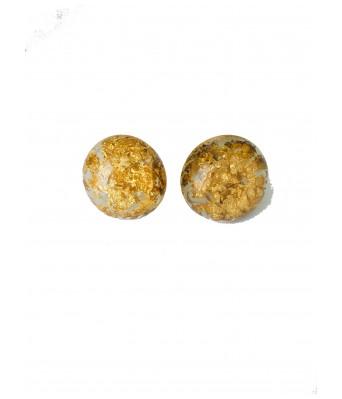 The Square One by Aditi Gautam Murat Glitter Gold Studs  Earrings  for Women & Girls