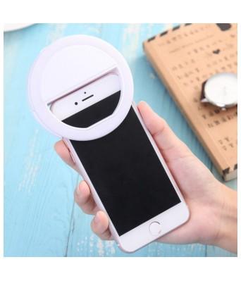 SunDel LED Rechargable Selfie Ring Light Flash for Musically & Smule on Mobile, Tablet, Laptop