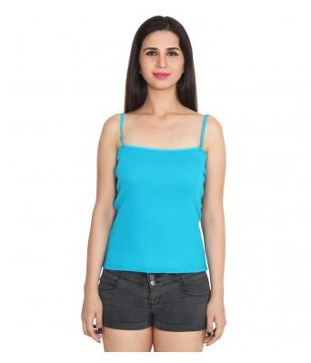 Ansh Fashion Wear Blue Color Cotton Spaghetti