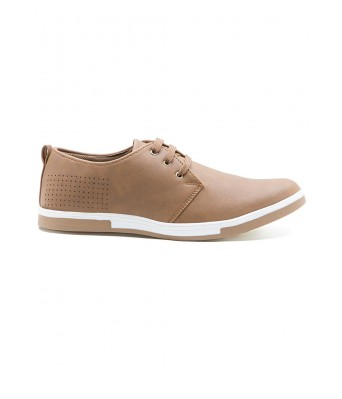 Iroo Mens Brown Canvas Shoes
