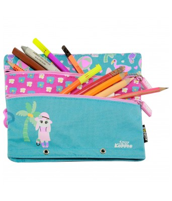 Fancy a5 pencil case  (Light Blue)
