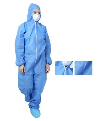 PPE Kit Medical Personal Protective Equipment kit - PPE kit (Blue) by AJSCOP
