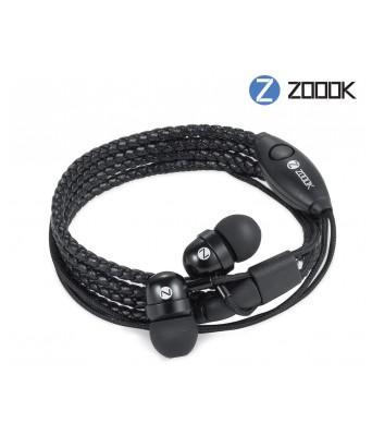 Zoook Rocker Wristband In Ear Wired With Mic Earphones (Black)
