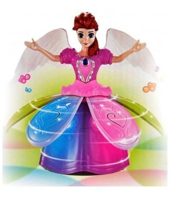 Princess Dancing Doll & Rotating Angel Girl Flashing Lights with Music