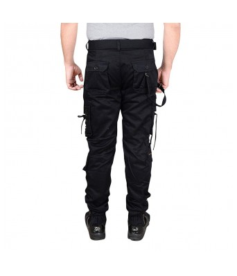 Xee Mens Black Color 6 Pockets Cargo Jeans for Mens & Boys