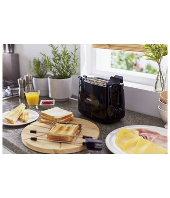 Philips HD2583/90 With Integrated Bun Warming Rack 600 W Pop Up Toaster  (Black)