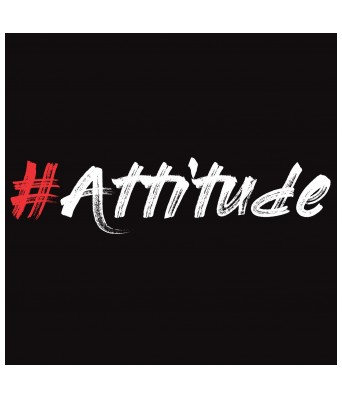 Hypertake Mens Cotton T-Shirt. Hashtag Attitude Printed Tshirt Black & White