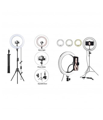 Selfie Ring Light for Mobile with Stand | Videoshoot Light with Stand | Instareel Light