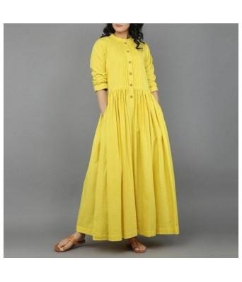 Siyani Yellow Color Festive & Party Printed Women Kurti and Dress Set