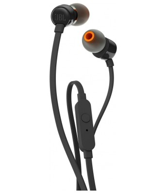 JBL T110 In-Ear Headphones with Mic (Black)