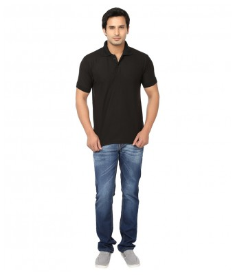 Ansh Fashion Wear Mens Cotton Polo-T Shirt