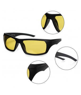 KDH Wrap Around Unisex Night Vision Sunglasses with 100% UV Protection