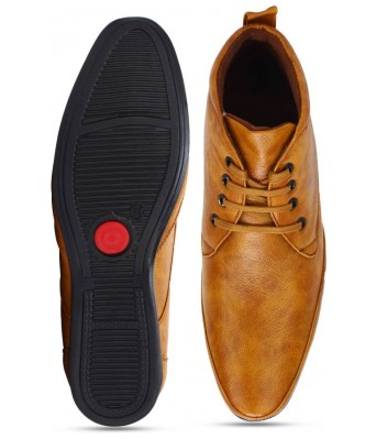 Day Breakers Tan Light Brown Ankle Shoes for Mens & Boys